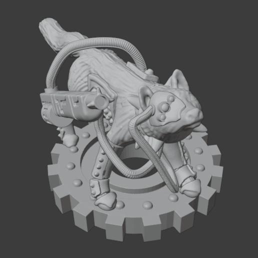 SkitteryRanger.png Télécharger fichier STL gratuit Martian Skittery Ranger - Version Giant Space Fox • Plan pour imprimante 3D, Foxwarrior