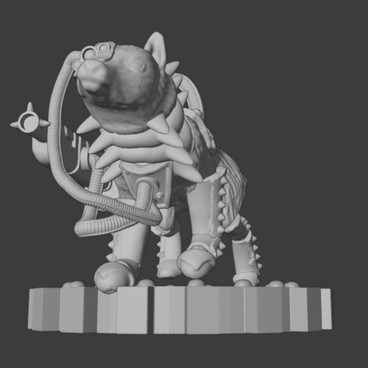 SkitteryRanger2.png Télécharger fichier STL gratuit Martian Skittery Ranger - Version Giant Space Fox • Plan pour imprimante 3D, Foxwarrior