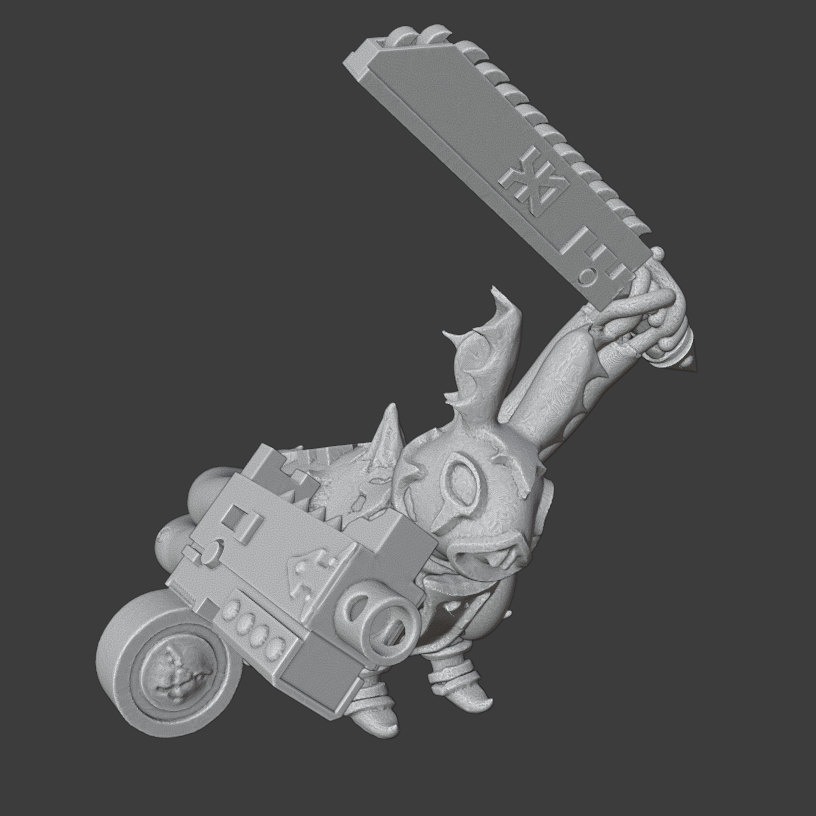 RabbitAim.png Download free OBJ file Rabbits of the Blood God • 3D printer template, Foxwarrior