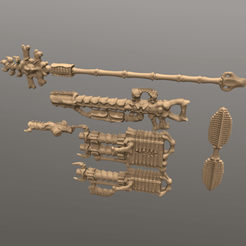 BonecronWeapons.png Download OBJ file Bonecron Weapons • 3D printing design, Foxwarrior