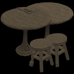 Télécharger fichier STL gratuit Cyberstool et Table, et régulières • Modèle pour impression 3D, Foxwarrior