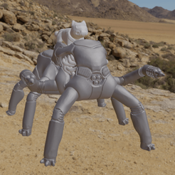 Turbocrawler1.png Download free OBJ file Desert Turbocrawler with Lightning Blasters • 3D printing design, Foxwarrior