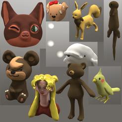 CuteThings2.png Download OBJ file Cute Things • Template to 3D print, Foxwarrior