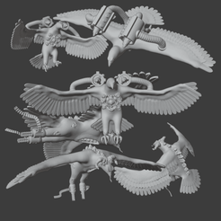 EaglesofFreedomAndJustice.png Download free OBJ file Eagles of Freedom and Justice • Template to 3D print, Foxwarrior