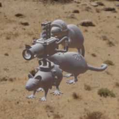 G-Rat-Chin.png Download free OBJ file Gretchen except it's 3 rats with a gun • 3D printable design, Foxwarrior
