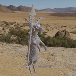 FardeerReer.png Download free OBJ file Eldeer Farseer • 3D printing object, Foxwarrior