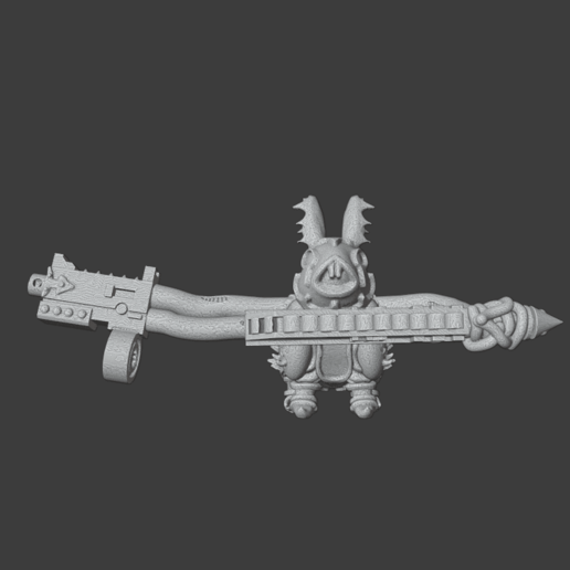 RabbitThreaten.png Download free OBJ file Rabbits of the Blood God • 3D printer template, Foxwarrior