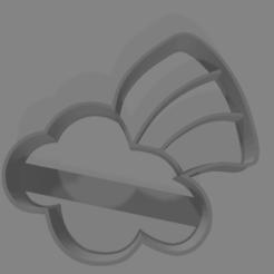 Cortante nube con arcoiris .png Download STL file Short cloud • 3D print object, Impresiones3D