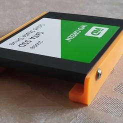 """Télécharger fichier impression 3D gratuit Monture magnétique de disque dur à l'état solide de 2,5""""., MannMade"""
