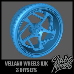 Vellano Wheels VJK.png Télécharger fichier STL Vellano Wheels VJK avec 3 compensations • Plan pour imprimante 3D, SlowlysModels