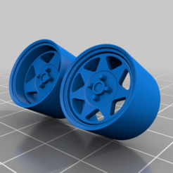 Download free STL file 5 and 7 Spoke Steelies 3 Offsets • 3D printing template, SlowlysModels