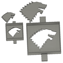 Wolves.png Download free STL file Wolf head stencil • 3D printable design, 3DIYCaptain