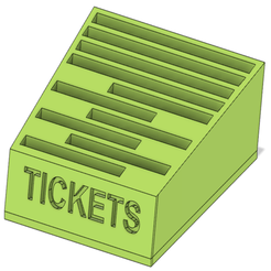 Capture_decran_2019-10-05_a_17.18.02.png Download free STL file Tickets holder / Support Tickets • 3D printing template, 3DIYCaptain