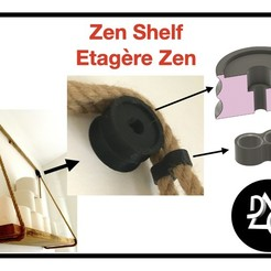 ZenShelf.jpeg Download free STL file Zen Shelf / Zen Shelf • 3D printable template, 3DIYCaptain