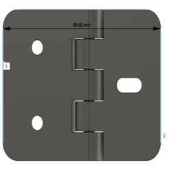 Hinge1.png Télécharger fichier STL gratuit Charnière simple • Modèle pour imprimante 3D, 3DIYCaptain