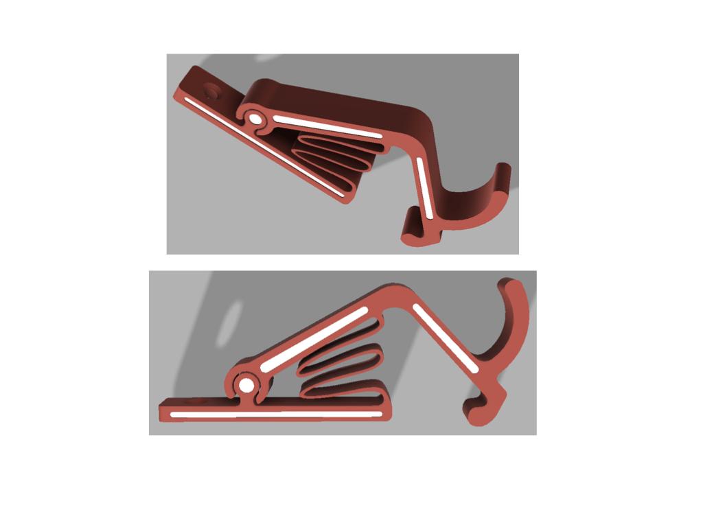 crochet_Hook_flat_version.jpeg Télécharger fichier STL gratuit Crochet à torchon - Kitchen towel hook • Design à imprimer en 3D, 3DIYCaptain
