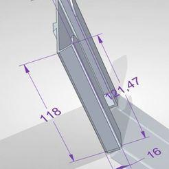 holder_size.JPG Télécharger fichier STL Support de téléphone pour fauteuil roulant • Modèle imprimable en 3D, szsogor