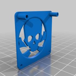 BullseyeskullFC.png Download free OBJ file Bullseye Skull 4010 Fan Cover • 3D printable template, Zef
