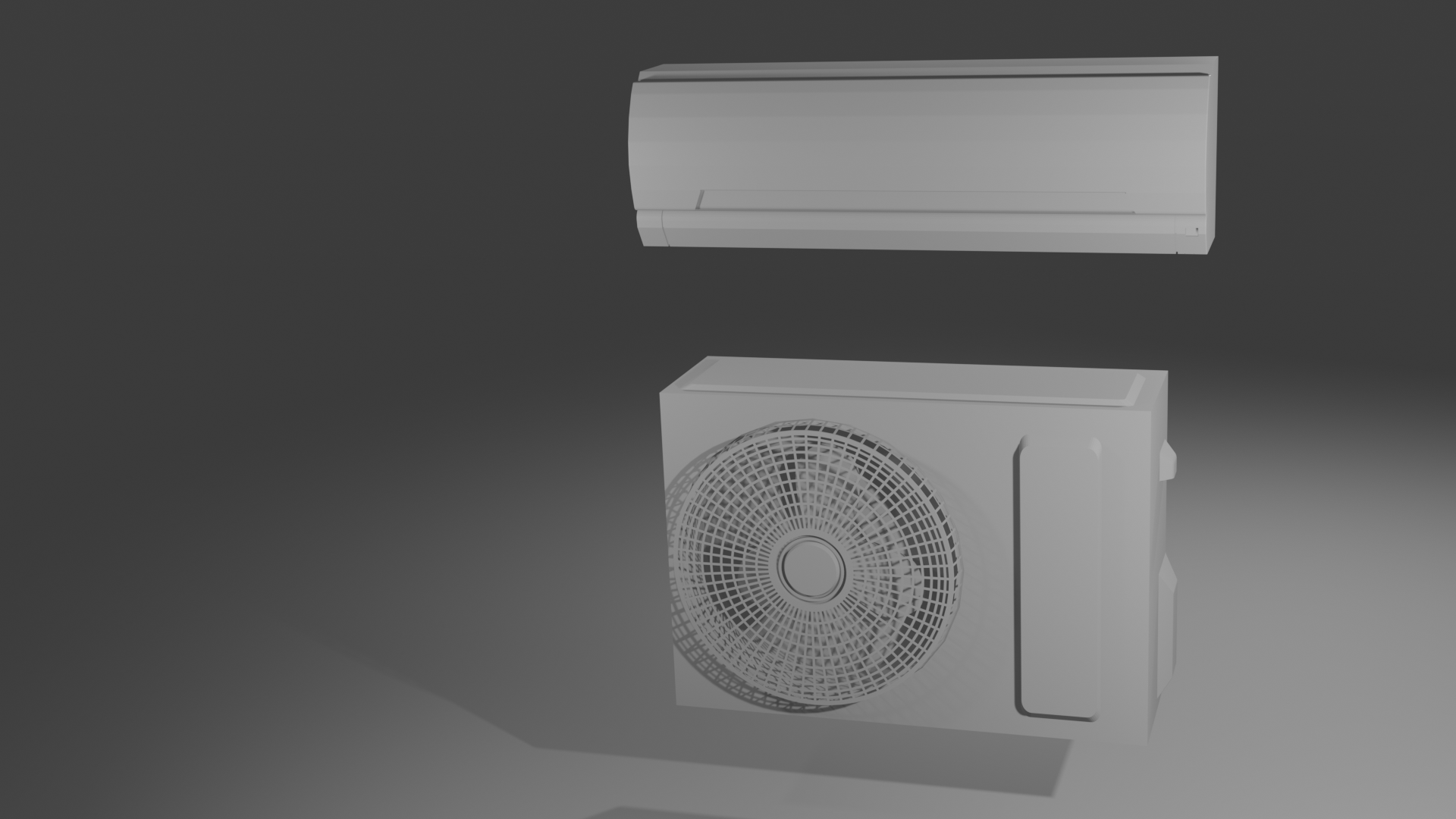set.png Download STL file Aircon and Compressor unit for Dollhouse • 3D printable object, itzu