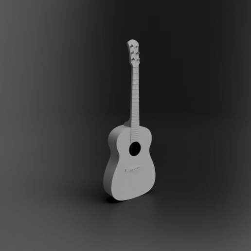Download free 3D printer designs Acoustic Guitar, itzu