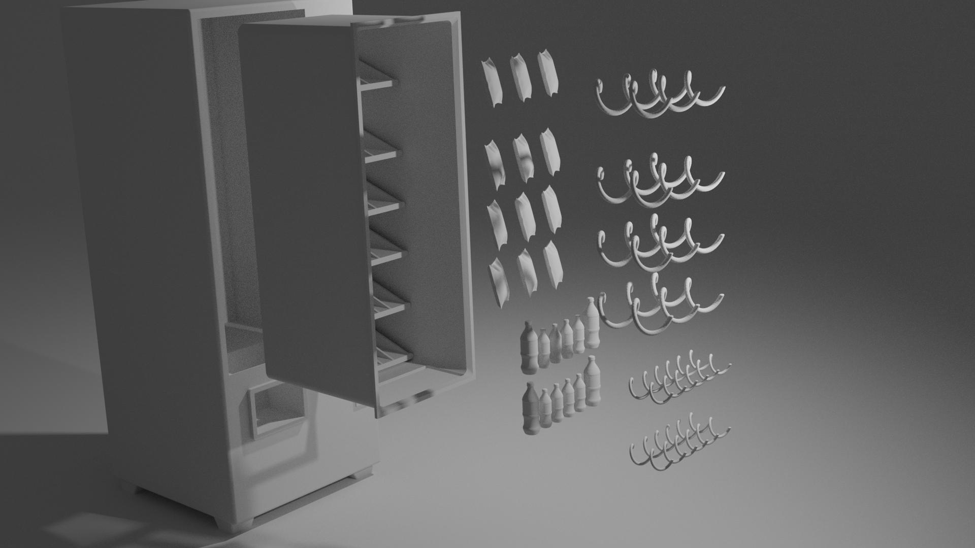 Vending machine 01.png Download free STL file Scale Model Vending Machine • Design to 3D print, itzu