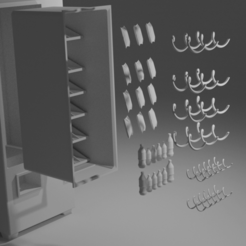 Download free 3D printer templates Scale Model Vending Machine, itzu