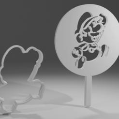 Descargar Modelos 3D para imprimir gratis Cortador de galletas de papel Mario + plantilla para el glaseado, itzu