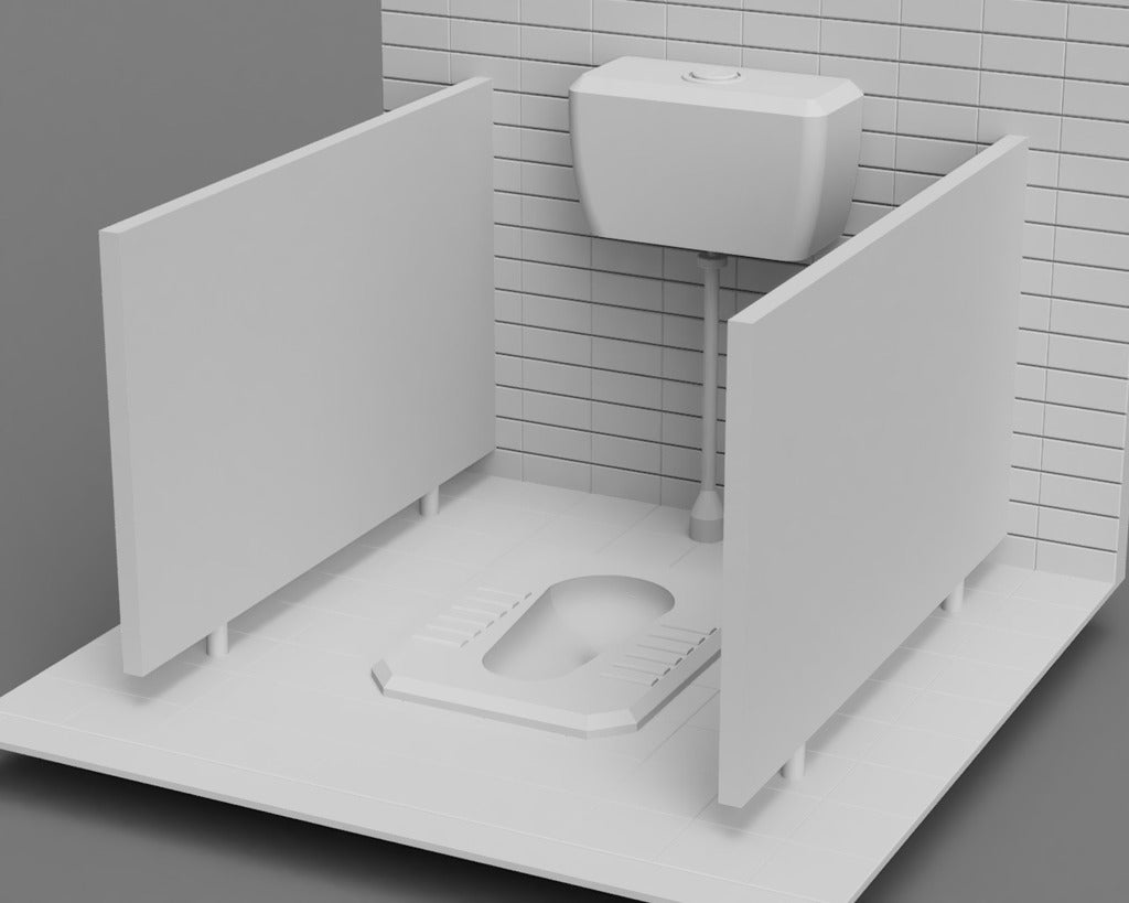 Toilet02.PNG Download free STL file Toilet Diorama • 3D printable object, itzu