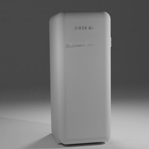 Download free 3D model SMEG Fridge Scale Model, itzu