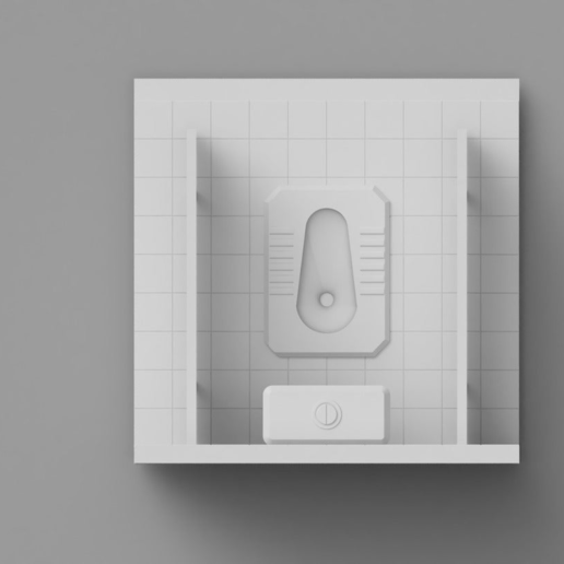 Toilet04.PNG Download free STL file Toilet Diorama • 3D printable object, itzu