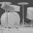 Drums B.png Télécharger fichier STL gratuit Maquette de la batterie • Objet pour impression 3D, itzu