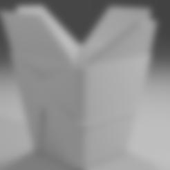 TAKEAWAY BOX.stl Télécharger fichier STL gratuit Boîte à emporter chinoise • Objet imprimable en 3D, itzu