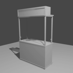 Front View A.png Download free STL file Street Hawker Stall • 3D printing object, itzu