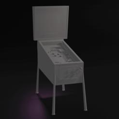 Pinball A.png Download free STL file Scaled Model Pinball Machine • 3D print model, itzu