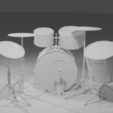 Drums C.png Télécharger fichier STL gratuit Maquette de la batterie • Objet pour impression 3D, itzu