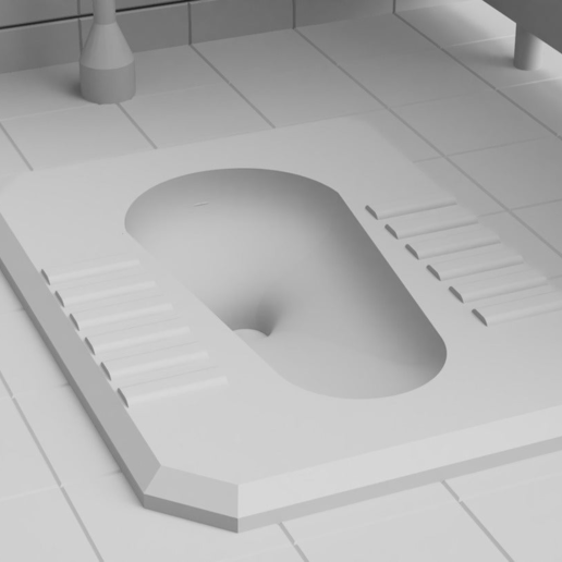 Toilet03.PNG Download free STL file Toilet Diorama • 3D printable object, itzu