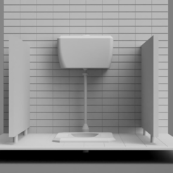 Toilet01.PNG Download free STL file Toilet Diorama • 3D printable object, itzu