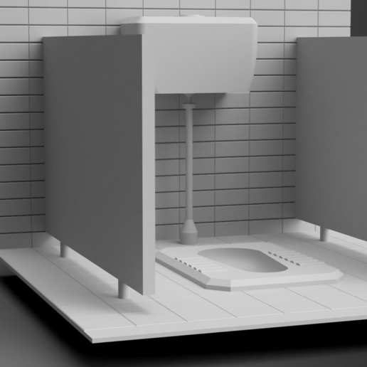 Toilet06.PNG Download free STL file Toilet Diorama • 3D printable object, itzu