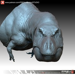 Download 3D printer files T-REX BUST, PREYcollectionSTUDIO