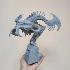 Download STL file DRAGON BUST • 3D printable template, PREYcollectionSTUDIO