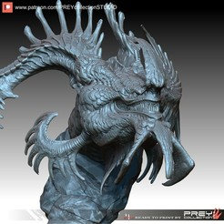 Download 3D printer designs DRAGON BUST, PREYcollectionSTUDIO
