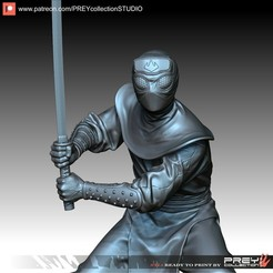 Download 3D printing templates FOOT CLAN SOLDIER 1-10 SCALE STL, PREYcollectionSTUDIO