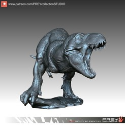 165.jpg Download STL file TYRANNOSAURUS  • 3D print template, PREYcollectionSTUDIO