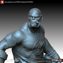 Download 3D printing models HELLBOY 1-10 SCALE, PREYcollectionSTUDIO