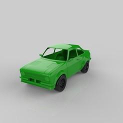 escort mk2.jpg Download STL file ford escort mk2 3D print model • Template to 3D print, threedmodler