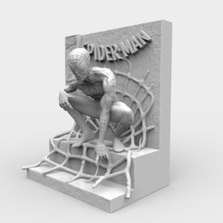 batman.126.jpg Download STL file Spider Man Comic Book Statue 3D print model • Model to 3D print, threedmodler