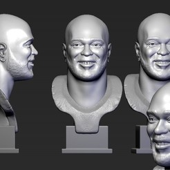 Emmitt Smith (1).jpg Download OBJ file Emmitt smith bust • 3D printable model, threedmodler