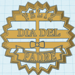 padre.png Download STL file cookie cutter frame father's day • Template to 3D print, MyEcortantes1