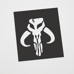 Imprimir en 3D Mandalorian Symbol Stencil, lautybovavidela