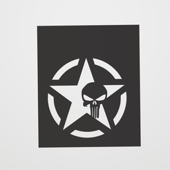 Download STL Stencil Punisher Logo star, lautybovavidela